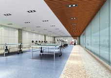 3d indoor gymnasium Royalty Free Stock Photos