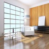 3D indoor sitting room rendering Stock Images