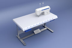 3d industrial sewing machine Royalty Free Stock Images