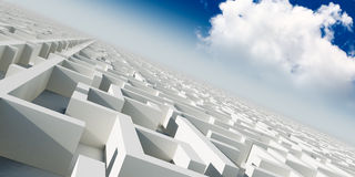 3d infinity maze Stock Image