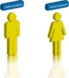 3D Info con l'uomo e la donna Fotografia Stock