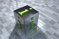 3D info symbol Stock Image