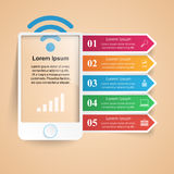 3D Infographic. Smartphone Icon. Stock Images