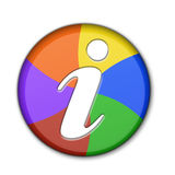 3D Information Symbol. Internet/Online Applications Colorful Information 3D Button Royalty Free Stock Photo