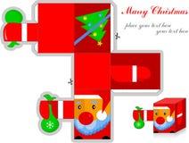 3d initiaux le père noël, marient la carte postale de Noël Photographie stock libre de droits