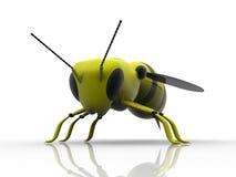 3d insenct喜欢金属黄蜂 库存例证