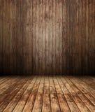 3d intérieur en bois, mur de panneau Images stock