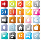 3D Interface Icons 2 Stock Image