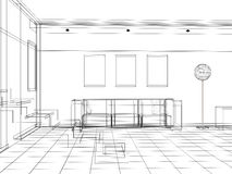 3d interior Stock Images