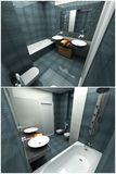 3d interior of the bathroom Royalty Free Stock Image