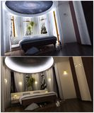 3d interior of the bedroom Royalty Free Stock Photography