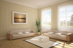 3d interior concept Stock Photo