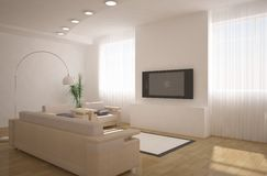 3d interior design Stock Photos