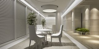 3d interior design blank lounge Royalty Free Stock Photo