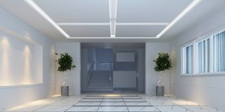 3d interior design hallway Stock Photography