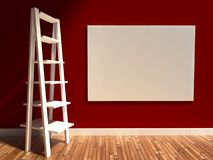 3d interior, empty billboard and shelf Royalty Free Stock Photography