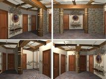 3d interior of the hallway Stock Photo