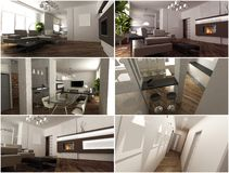 3d interior of the living room Royalty Free Stock Photo