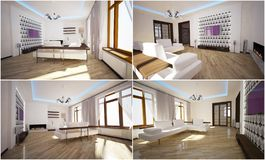 3d interior of the living room Royalty Free Stock Photography