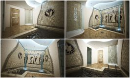 3d interior of the pool Royalty Free Stock Photography