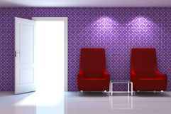 3d interior scene Stock Images