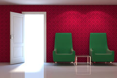 3d interior scene Royalty Free Stock Image
