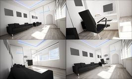 3d interior of a study Royalty Free Stock Photos