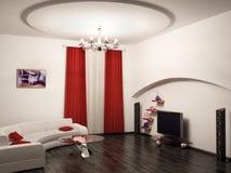 3d interiores rinden stock de ilustración
