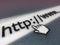 3D Internet adresstaaf. Stock Afbeeldingen