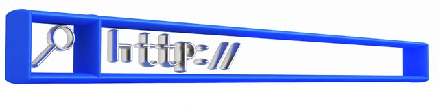 3d internet search string Stock Images