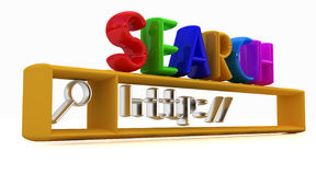 3d internet search string Stock Photo