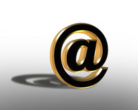 3D Internet Symbol for Email At sign Royalty Free Stock Photos