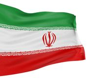 3D Iranian flag Royalty Free Stock Image