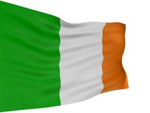 3D Irish flag Royalty Free Stock Photography
