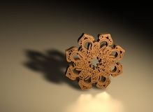 3D Islamic prayer symbol Royalty Free Stock Photos