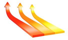 3D isolated arrows Stock Photos