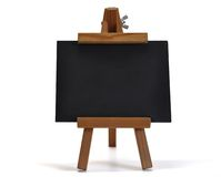 3D isolated blackboard with easel (for your text) stock illustration