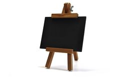 3D Isolated Blackboard With Easel (for Your Text) Stock Photography