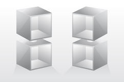 3d isolated Empty bookshelf. Vector illustration. Royalty Free Stock Photos