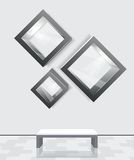 3d isolated Empty shelves Royalty Free Stock Image