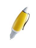 3d isolerad penna Arkivfoton