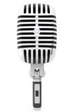 3d isolerade den retro mikrofonen Royaltyfri Fotografi