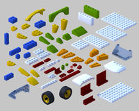 3d isometric lego Stock Photography