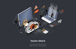 Free 3d Isometric Vector Illustration, Phishing Scam, Hacker Attack, Mobile Security Concept, Data Protection, Cyber Crime Royalty Free Stock Photo - 165973145