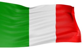 3D Italian flag Stock Photos