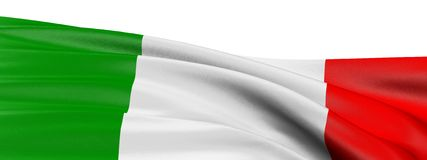 3D Italian flag Stock Images