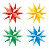 3d jaśnienia gwiazdy wektor Zdjęcia Royalty Free