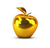 3d jabłko złoty Zdjęcia Royalty Free