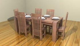3d jadalnia stół Zdjęcia Stock