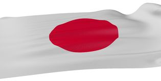 3D Japanese flag Stock Photo